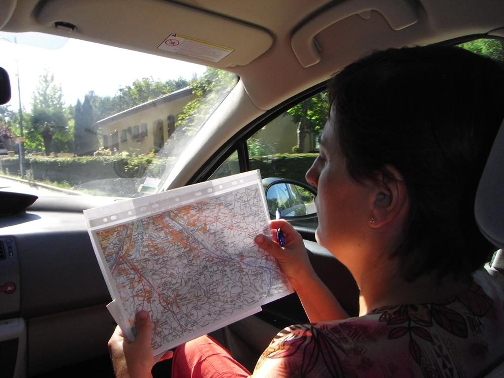 Car orienteering